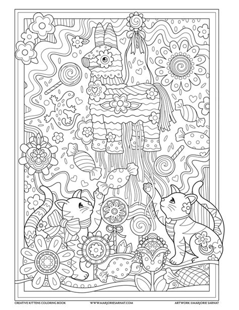 creative cats coloring book pinata creative kittens coloring book by marjorie sarnat