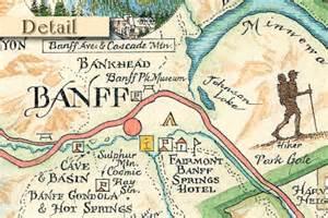 banff national park map by xplorer maps explorer maps