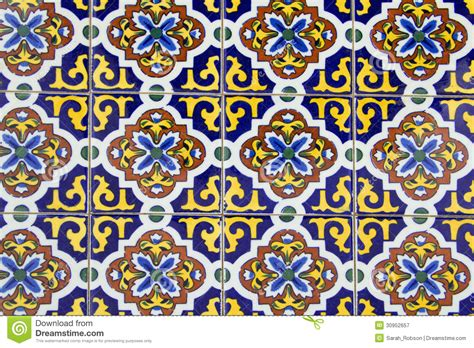 piastrelle spagnole vecchie piastrelle di ceramica spagnole fotografia stock