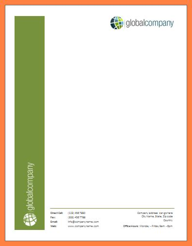 4 Creating Letterhead Template In Word Company Letterhead Create Letter Template