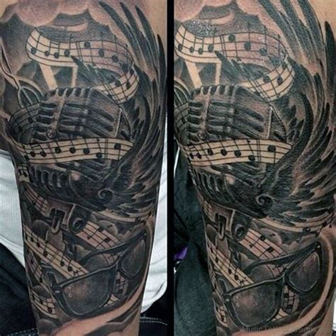 mens music tattoo designs 50 great tattoos on arm