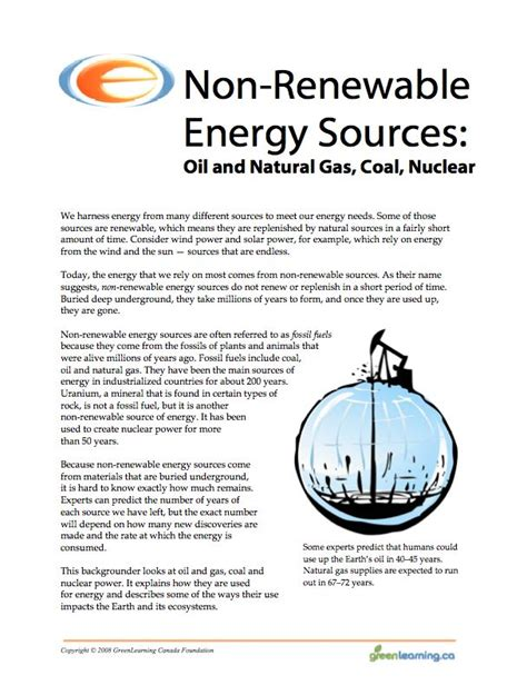 Renewable And Nonrenewable Resources Worksheet by 17 Best Images About Energy Resources On