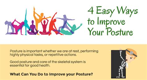 ways to get better posture infographics chiropractic care archives chiropractor