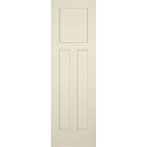 3 Panel Craftsman Interior Door Builder S Choice 24 In X 80 In 3 Panel Craftsman Solid Primed Pine Single Prehung