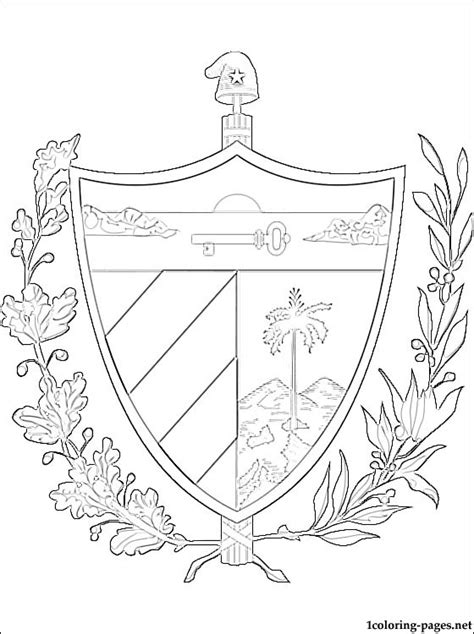 Cuba Coloring Pages shield of cuba coloring page coloring pages
