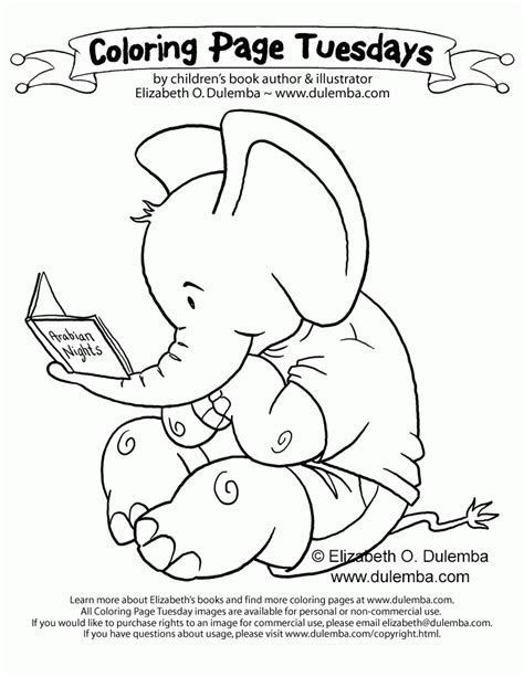 Coloring Page Tuesdays by E Is For Elephant Coloring Page Coloring Home