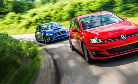 volkswagen wrx 2015 subaru wrx vs 2015 volkswagen gti comparison tests
