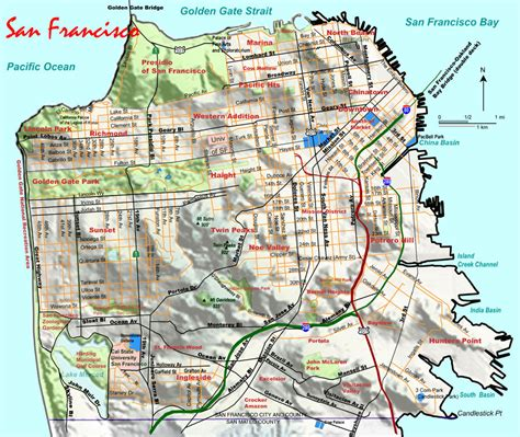 san francisco map topographic wanna be city carshare electric bikes not your
