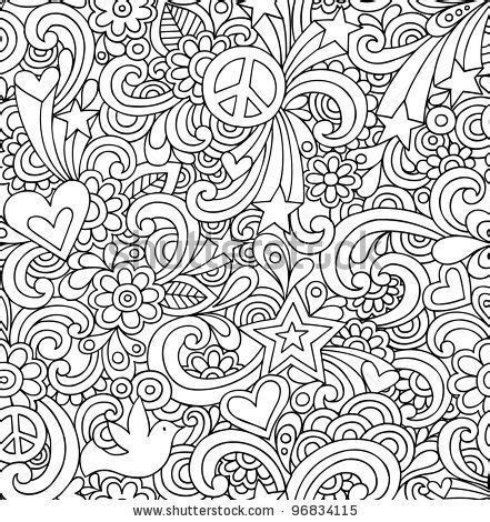 Peaceful Patterns Coloring Pages | ausmalbilder kostenlos doodle kunstgalerie ausmalbilder