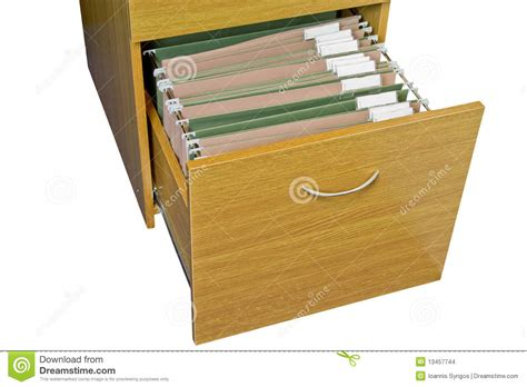 Open wooden filing cabinet stock photo. Image of labels