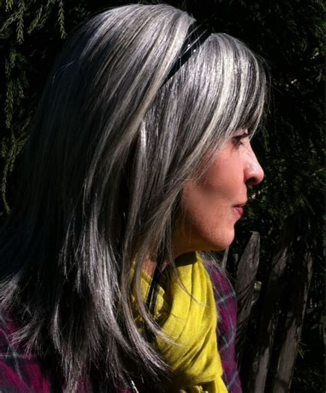 grey highlights in dark hair beautiful gray hair cuts hair world magazine