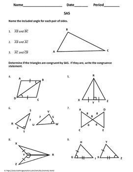 geometry worksheet side angle side   geometry world tpt