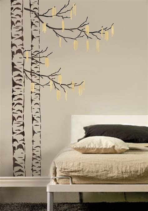 large tree template for wall large tree stencil beautiful birches reusable stencils for