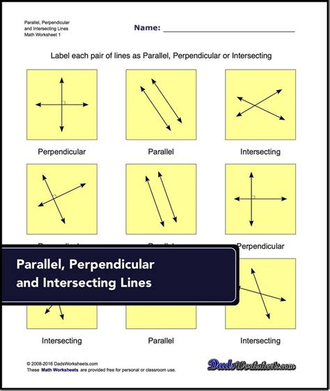 Intersecting Parallel And Perpendicular Lines Worksheet by 373 Best Lines Angles Activities Images On