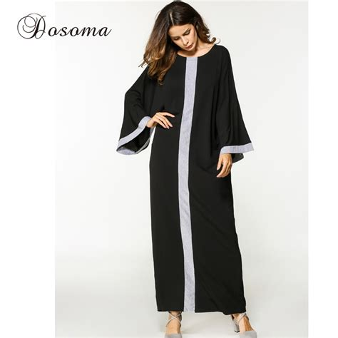 Maxi 8577 Dress Busana Muslim casual muslim abaya maxi dress sleeve robe gowns style moroccan burka kaftan