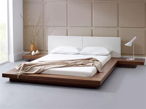 walnut bed modern bedroom furniture harmonia natural walnut platform bed living it up