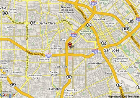 san jose parking map map of valley park hotel san jose