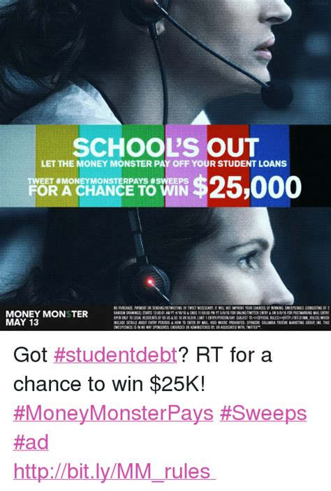 Sweepstakes To Pay Off Student Loans - 25 best memes about girl memes marketable money monster school and twitter