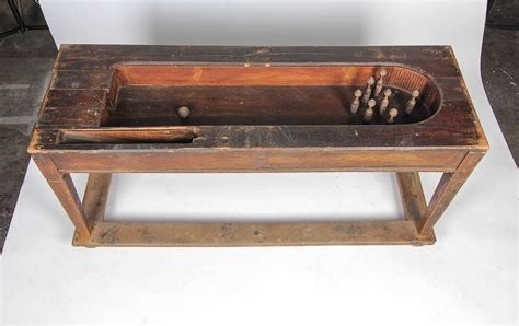 convertible wooden tabletop bowling game  sale  stdibs