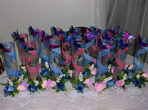 adorno de quince en mariposa decoraciones para mesas de quinceaneras mis angeles