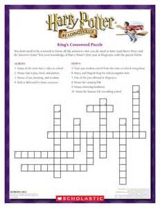 Harry potter crossword puzzle quotes