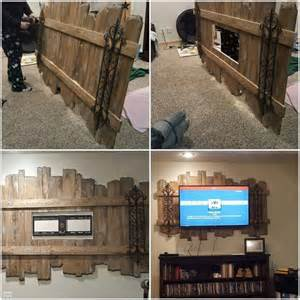 Diy wood pallet decorative tv wall mount from mary stapleton