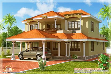 home designs india free indian 4 bedroom sloping roof home kerala home design
