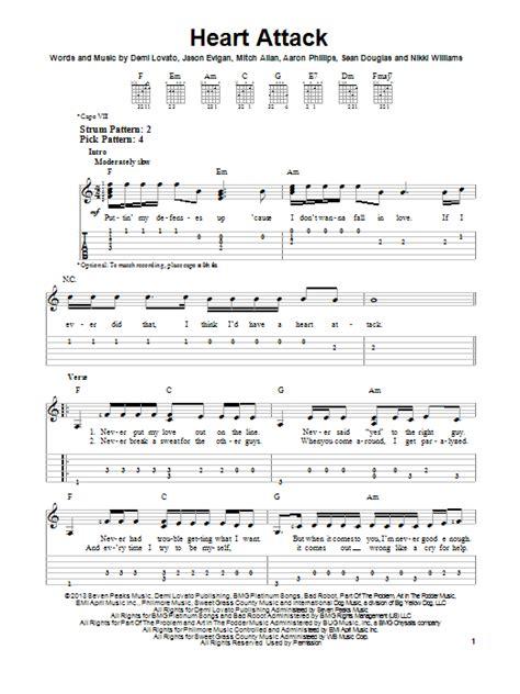 demi lovato heart attack gitar notaları heart attack sheet music by demi lovato easy guitar tab