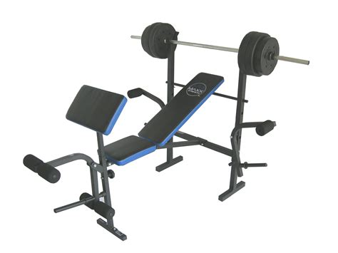 weight bench combo set cap barbell maxx strength combo bench w 80 lb weight set
