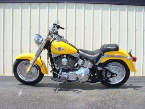 Motorcycle Dealers Around Me by 2006 Harley Davidson Flht Fatboy Bright Metallic Yellow