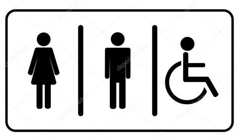 simbolo bagno uomini uomo vettoriale e uno non valido bagno donna simbolo di