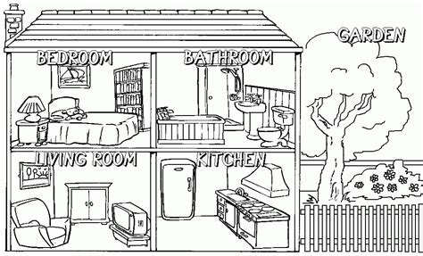 printable coloring pages rooms house house rooms coloring