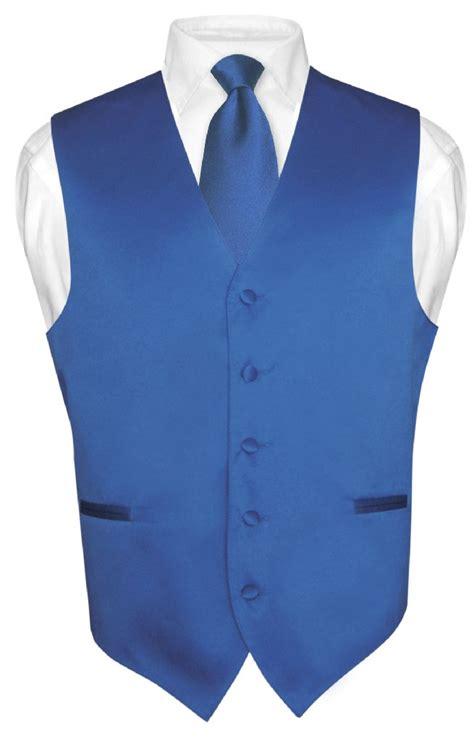s dress vest necktie royal blue neck tie set for suit