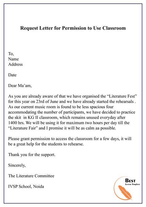 request letter permission classroom