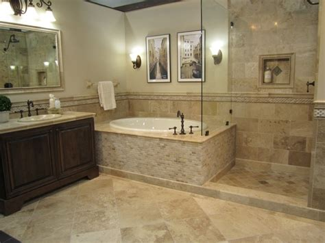 Travertine Tile Bathroom Shower 20 Pictures About Is Travertine Tile For Bathroom Floors With Ideas