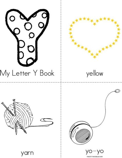 printable letter y book my letter y book twisty noodle
