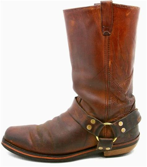 mens leather harness boots mens harness motorcycle biker boots size 10 ee brown