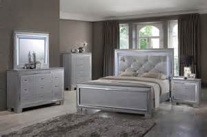 silver bedroom furniture martina silver bedroom set led lights queen amp king
