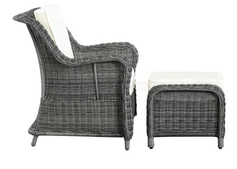 outdoor chair with ottoman du jour outdoor patio chair ottoman in gray white by modway