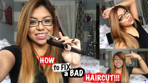 fixing bad pixie cut how to fix a bad haircut trim your own hair youtube