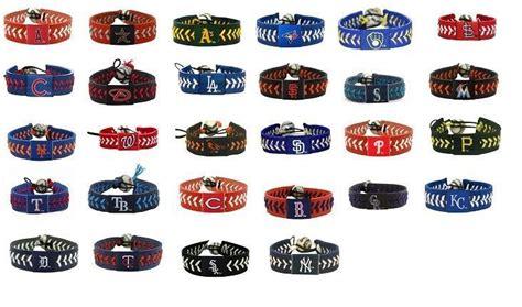 baseball team colors official mlb leather baseball seam bracelet team color