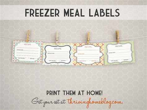 printable freezer labels printable freezer meal labels thriving home