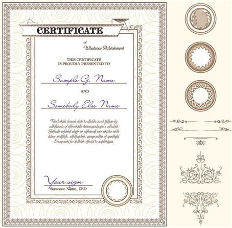 certificate templates vector free certificate template and decoration borders design vector