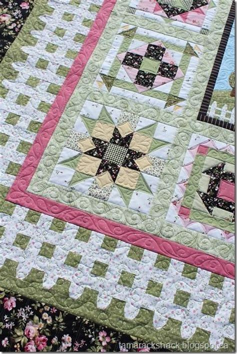quilt pattern picket fence wild rose cottage quilt the picket fence border is