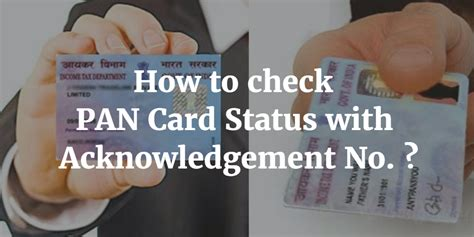 Acknowledgement Letter Of Pan Card How To Check Pan Card Status With Acknowledgement Number