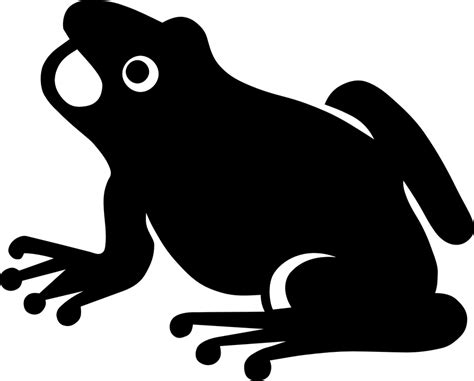 free clipart silhouette free vector graphic frog silhouette hibian open