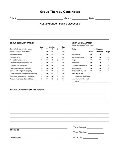 psych nursing group worksheet free case note templates group therapy case notes for