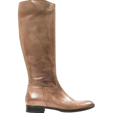 taupe nappa leather classic boots paolo