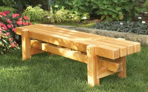 plans for a wooden bench benches outdoor plans