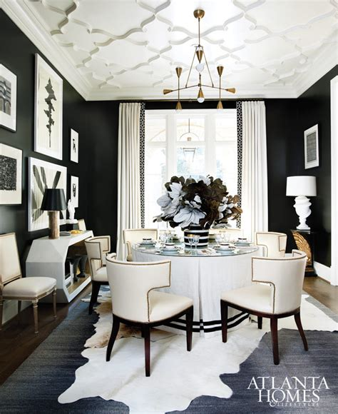 black and white dining room ideas black white style on black walls house of